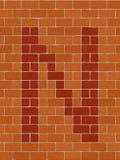 Der Buchstabe N stock abbildung