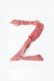 Der Buchstabe Z auf einem weißen Hintergrund Lizenzfreies Stockfoto