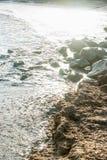 In der Bucht von Pomorie in Bulgarien Stockbilder
