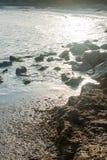 In der Bucht von Pomorie in Bulgarien Stockfotografie