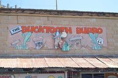 Der Bucktooth-Burro-Saal Oatman Route 66 lizenzfreie stockfotos