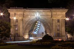 Der Budapest-Tunnel stockbilder