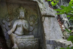 Der Buddha in Lingyin-Naturschutzgebiet Stockbild