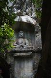 Der Buddha in Lingyin-Naturschutzgebiet Lizenzfreie Stockbilder
