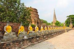 Der Buddha und die Pagode, Ayutthaya Lizenzfreie Stockbilder