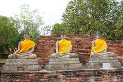 Der Buddha und die Pagode, Ayutthaya Lizenzfreie Stockfotos