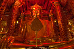 Der Buddha von Wat Phananchoeng Worawihan Lizenzfreies Stockfoto