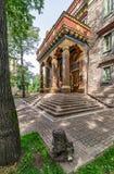 Der buddhistische Tempel Datsan Gunzechoinei Der Eingang und der Innenhof Lizenzfreies Stockfoto