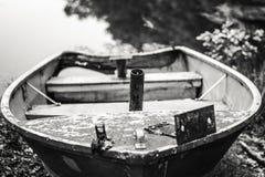 Der Bug des Ruderboots Stockfotografie