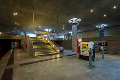 Der Bundestag-U-Bahnstation (U-Bahnstation) in Berlin Stockfotografie