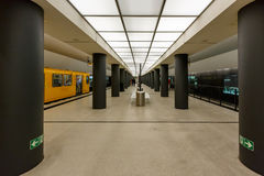 Der Bundestag-U-Bahnstation (U-Bahnstation) in Berlin Stockbild