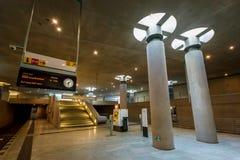Der Bundestag-U-Bahnstation (U-Bahnstation) in Berlin Stockbilder