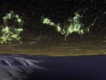 Der bunte nächtliche Himmel Stockfotos