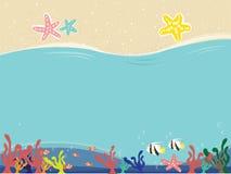 Der bunte Ozeanmarinehintergrund lizenzfreie abbildung