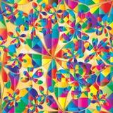 Der bunten nahtloses Muster Diamant-Form der Blume Stockfotos