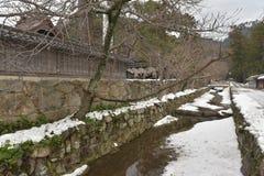Der Burggraben im japanischen Schrein Lizenzfreie Stockfotografie
