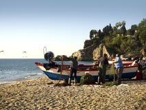 Burriana-Strand Nerja Spanien Stockfotos