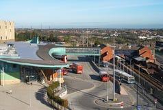 Der Busbahnhof Stockbilder