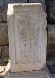 Der Caduceus bei Ephesus lizenzfreie stockfotografie