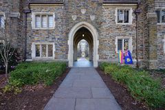 Der Campus von Duke University in Durham, North Carolina lizenzfreie stockbilder