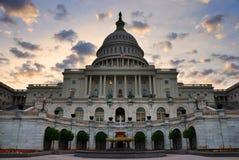 Der Capitol- Hillgebäudenahaufnahme, Washington DC Lizenzfreies Stockfoto