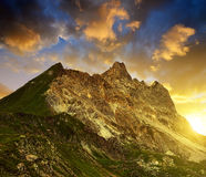 Der Casanna-Berg - Bezirk von Graubunden, die Schweiz Stockbilder