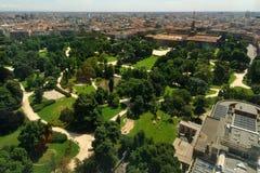 Der Castello Sforzesco Park in Mailand, Italien lizenzfreie stockfotografie