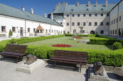 Der Cerveny Kamen Castle, Slowakei Stockbilder