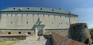 Der Cerveny Kamen Castle, Slowakei Lizenzfreies Stockfoto