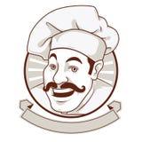 Der Chef Lächelndes Gesicht des Mustachioed Chefs #2 Stockfotos