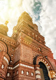 Der Chernigovsky-Sketch Belfry in Sergiyev Posad, Russland Stockbilder