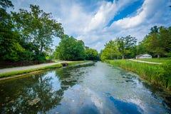 Der Chesapeake u. der Ohio-Kanal am Chesapeake u. am Ohio-Kanal-Staatsangehörigen lizenzfreies stockfoto