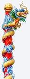 Der chinesische Drachepol Lizenzfreies Stockfoto