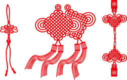 Der chinesische Knoten von Vektoren Lizenzfreies Stockfoto