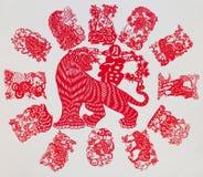 Der chinesische Tierkreis lizenzfreie abbildung