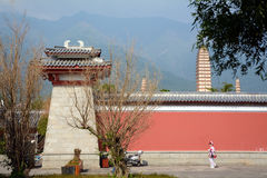 Der Chongsheng-Tempel und die Drei-Pagode Lizenzfreie Stockfotografie