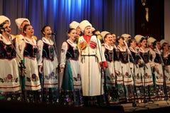 Der Chor der drei Frauen in der russischen Armee Lizenzfreies Stockbild