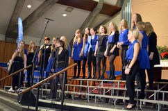Der Chor der Synergie-jungen Frauen Lizenzfreie Stockfotografie