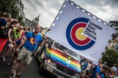 Der Chor homosexueller Männer Londons Stockfotografie