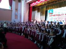 Der Chor der Kinder in der Musikschule lizenzfreies stockbild