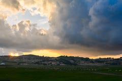 Der cloudscape Sonnenuntergang Stockfotografie