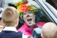Der Clown kam lizenzfreie stockfotografie