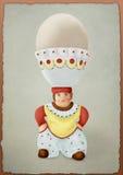 Der Clown und das Ei Lizenzfreie Stockfotografie