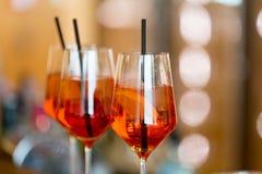 An der Cocktailbar Lizenzfreie Stockbilder