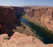 Der Colorado in Glen Canyon (Arizona, USA) stockfotografie