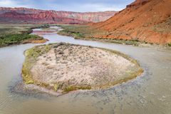 Der Colorado in Utah-Vogelperspektive Stockfotos