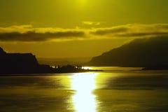Der Columbia River von gerade östlich Bingen Washingtons stockfoto