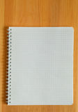 Der Copy-book, auf Tabelle. stockfotografie