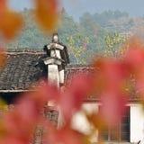 Der corbie Giebel von chinesischen Volkshäusern Lizenzfreies Stockbild