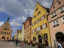 Der da baixa Tauber do ob de Rothenburg Foto de Stock